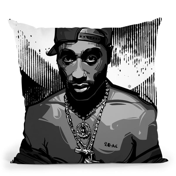 Tupac I Throw Pillow By Nikita Abakumov