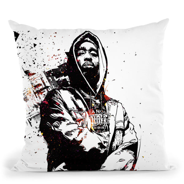 Tupac Ii Throw Pillow By Nikita Abakumov