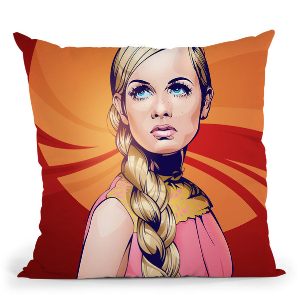 Twiggy Throw Pillow By Nikita Abakumov