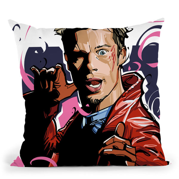 Tyler Durden Throw Pillow By Nikita Abakumov