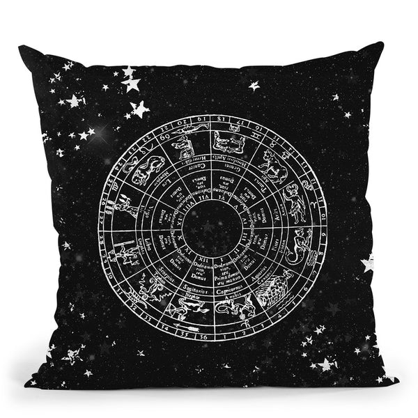 Vintage Star Map Black And Gray Throw Pillow By Nature Magick