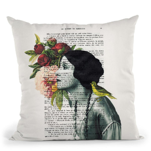 Flower Woman I Throw Pillow By Not Much To Say