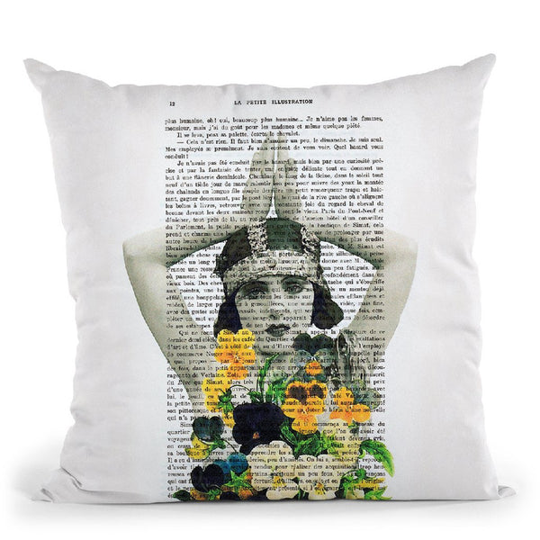 Flower Woman Ii Throw Pillow By Not Much To Say