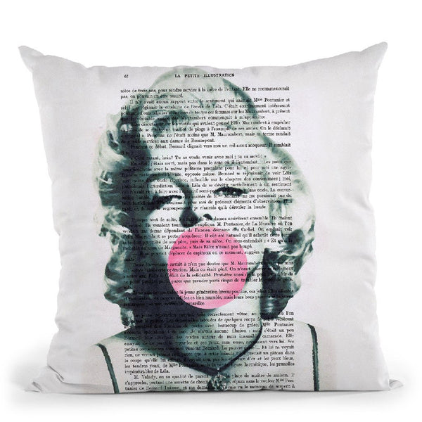 Marilyn Monroe With Bubble Gum Throw Pillow By Not Much To Say