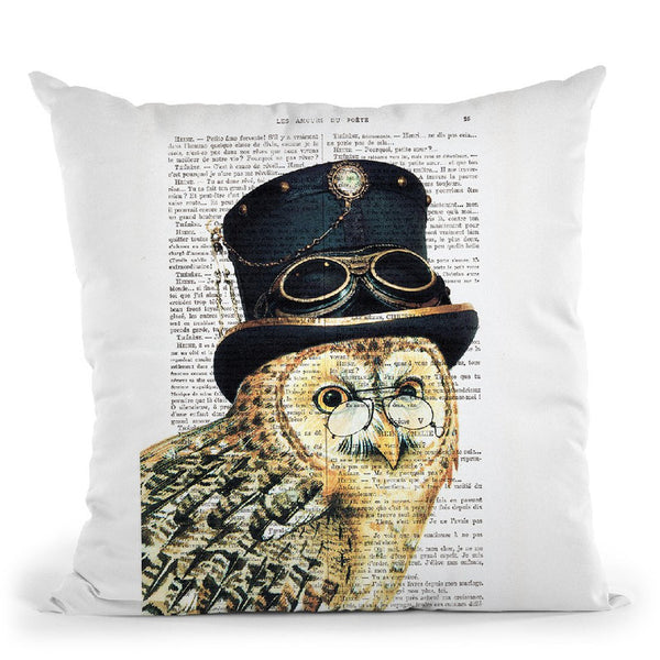 Steampunk Owl Throw Pillow By Not Much To Say