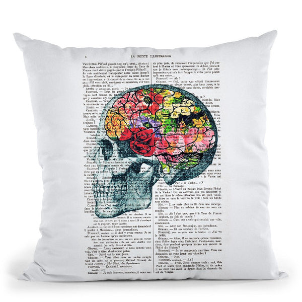 Brains Throw Pillow By Not Much To Say