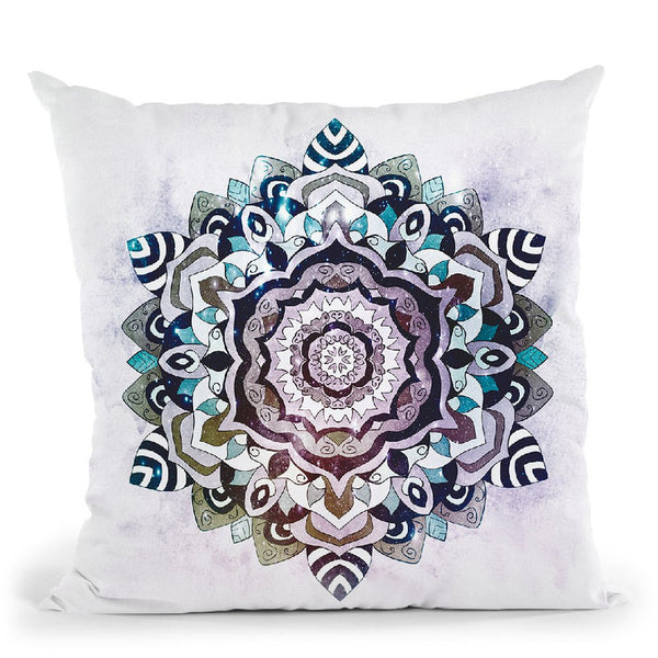 Blue Freesoul Mandala Throw Pillow By Nika Martines