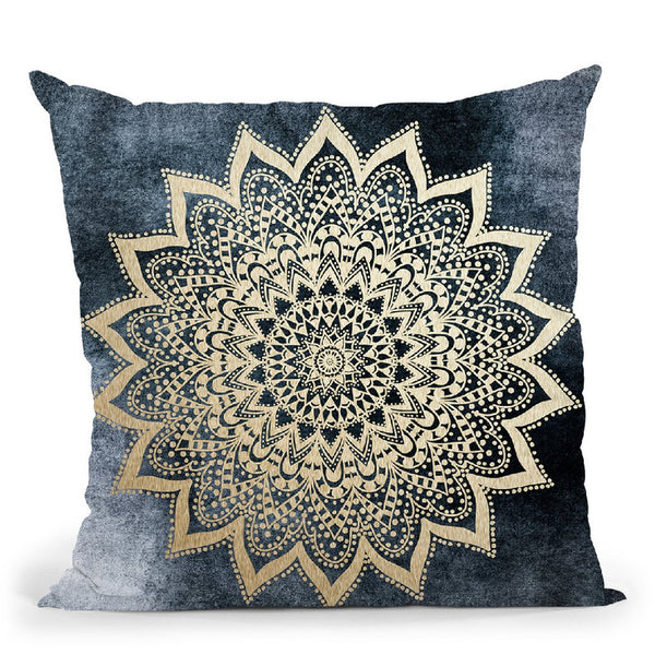 Boho Nights Mandala Throw Pillow By Nika Martines