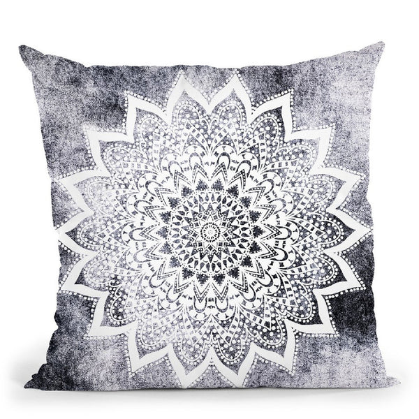 Boho White Nights Mandala Throw Pillow By Nika Martines