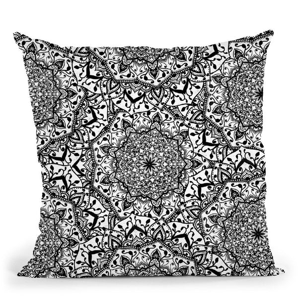 Bohochic Indigo Throw Pillow By Nika Martines
