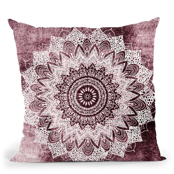 Bohochic Mandala In Burgundi Throw Pillow By Nika Martines