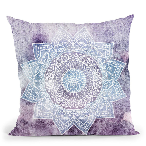 Deep Purple Mandala Throw Pillow By Nika Martines