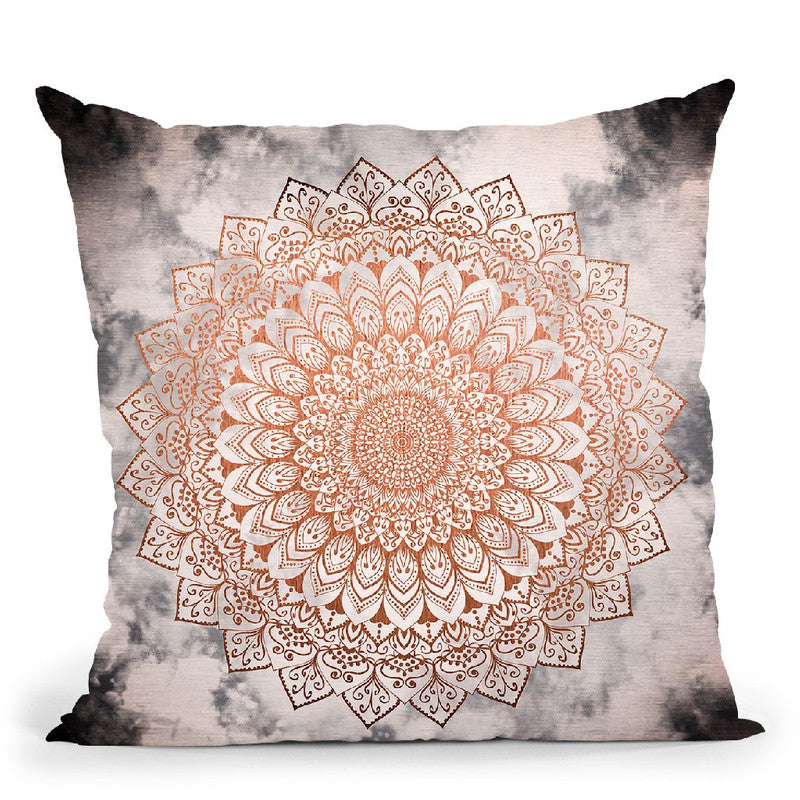Rose Night Mandala Throw Pillow By Nika Martines