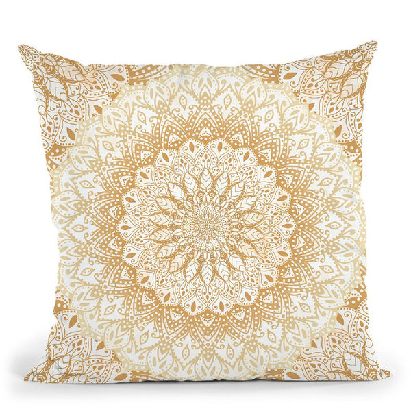 Mandalas For May Gold Throw Pillow By Nika Martines