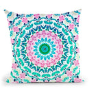 Hippie Floral Mandala Throw Pillow By Nika Martines