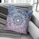 Nature Mandala Gray-Pink Throw Pillow By Nika Martines