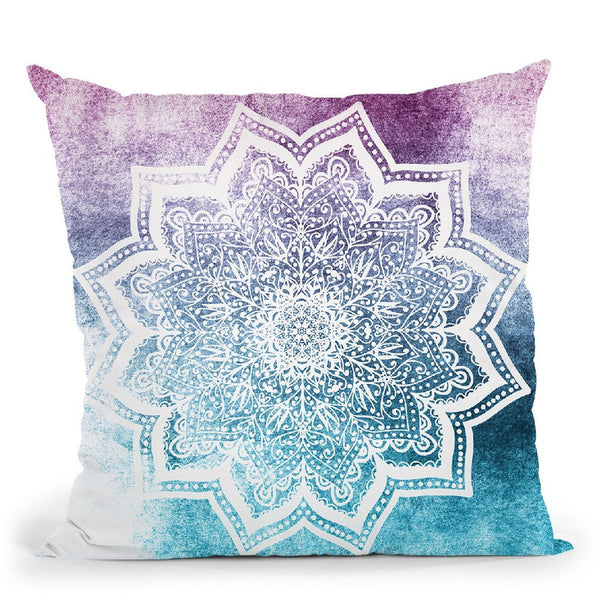 Summer Blueish Mandala Throw Pillow By Nika Martines