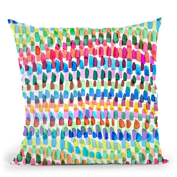 Artsy Strokes Stripes Colorful Throw Pillow By Ninola Design