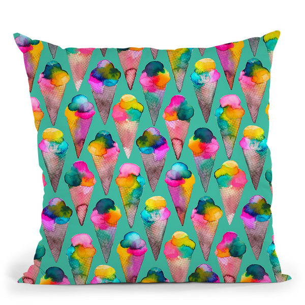 Cute Ice Creams Throw Pillow By Ninola Design