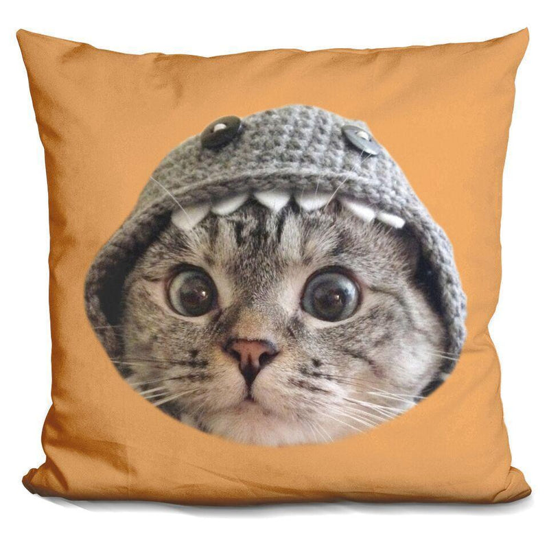 Nala Cat Monster Hood Orange Square Pillow