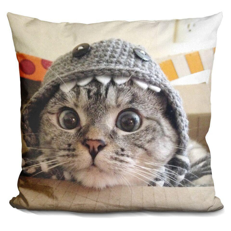 Nala Cat Monster Hood in Box Square Pillow