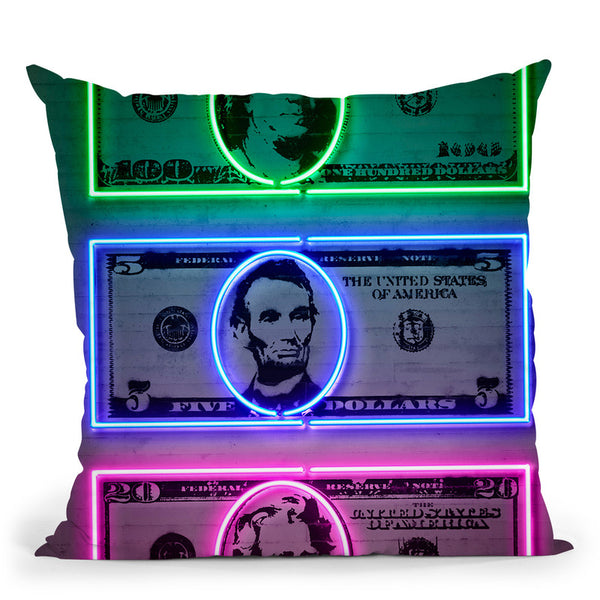 Dollars Throw Pillow By Octavian Mielu