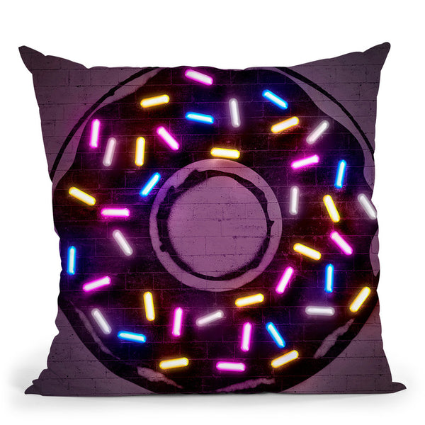 Donut Throw Pillow By Octavian Mielu