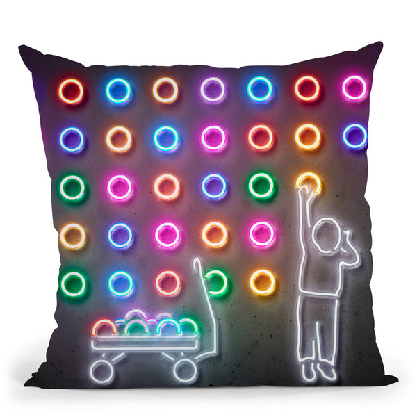 Dots Throw Pillow By Octavian Mielu