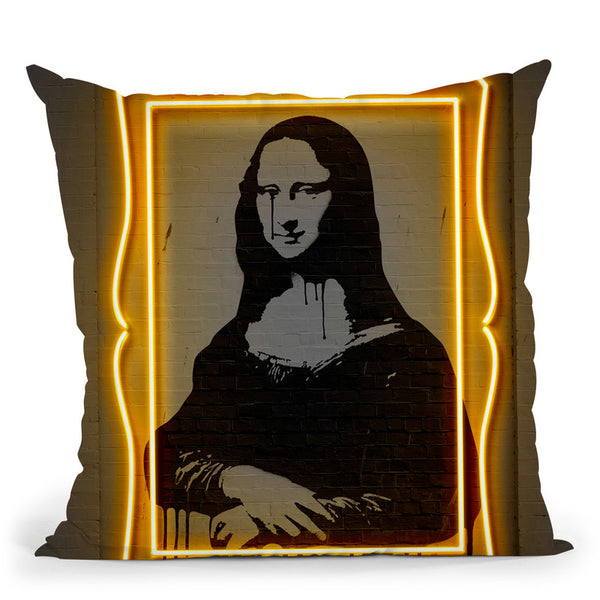 Mona Lisa Throw Pillow By Octavian Mielu