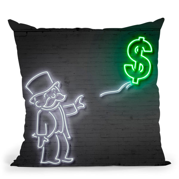Money Balloon Throw Pillow By Octavian Mielu