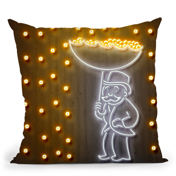 Money Rain Throw Pillow By Octavian Mielu