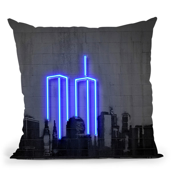 New York Throw Pillow By Octavian Mielu