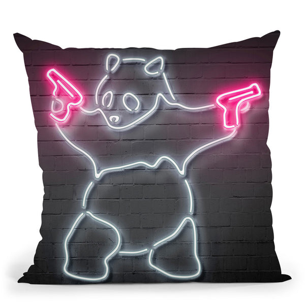 Panda Throw Pillow By Octavian Mielu