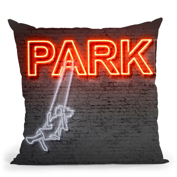 Park Throw Pillow By Octavian Mielu