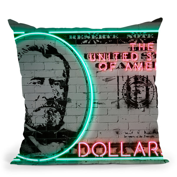 50 Dollars Throw Pillow By Octavian Mielu