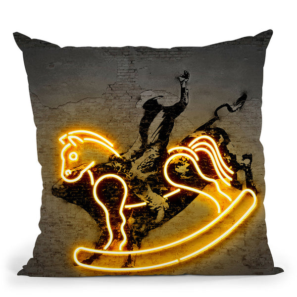 Rodeo Throw Pillow By Octavian Mielu