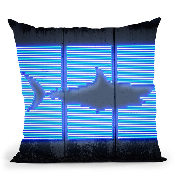 Shark Throw Pillow By Octavian Mielu