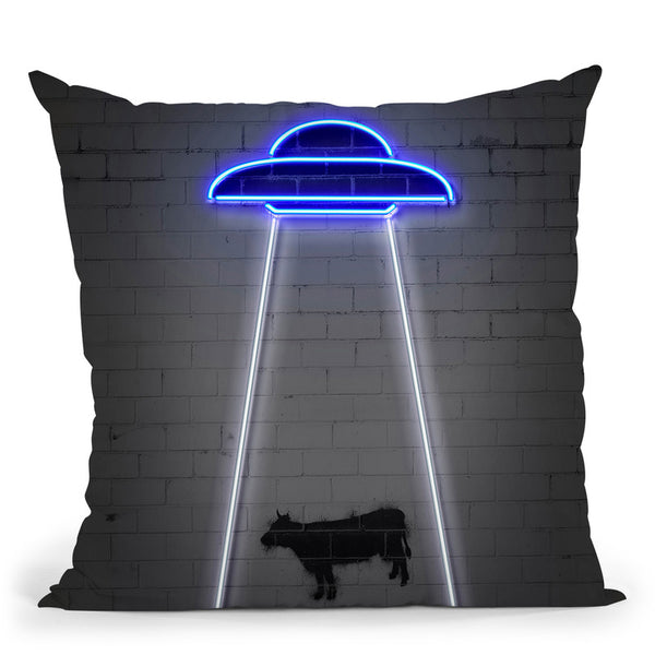 Ufo Throw Pillow By Octavian Mielu