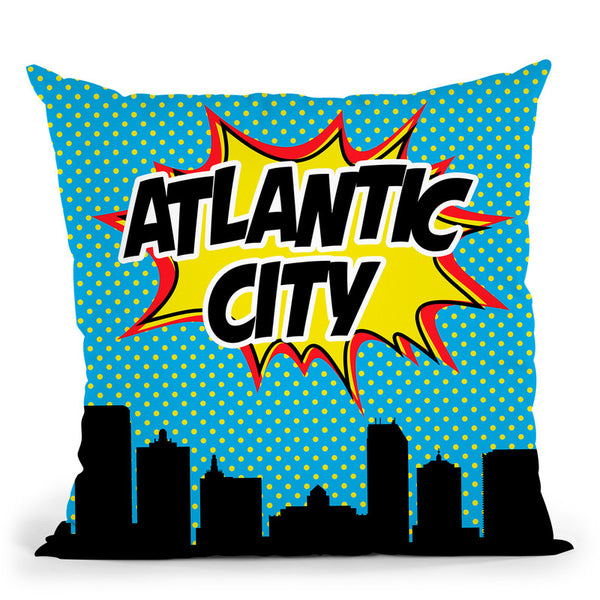 Atlantic City Throw Pillow By Octavian Mielu