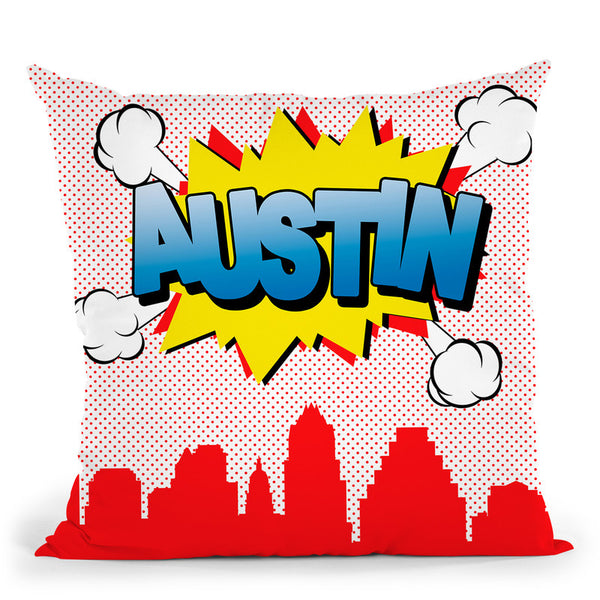 Austin Throw Pillow By Octavian Mielu