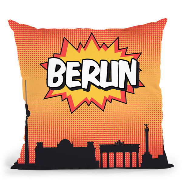 Berlin Throw Pillow By Octavian Mielu