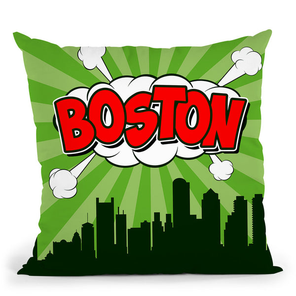 Boston Throw Pillow By Octavian Mielu