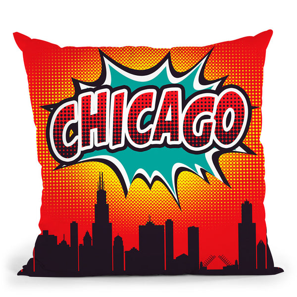 Chicago Throw Pillow By Octavian Mielu
