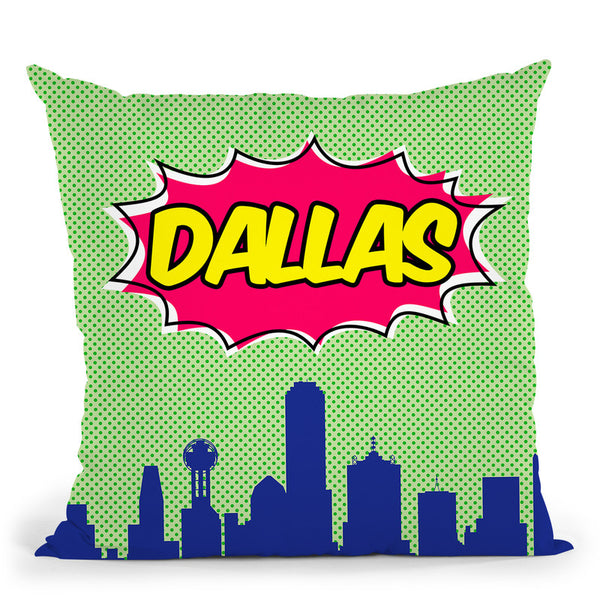 Dallas Throw Pillow By Octavian Mielu