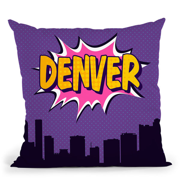 Denver Throw Pillow By Octavian Mielu