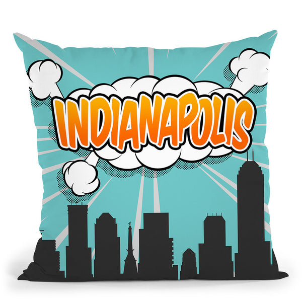Indianapolis Throw Pillow By Octavian Mielu