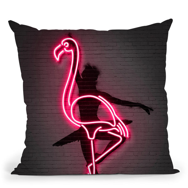 Ballerina Throw Pillow By Octavian Mielu
