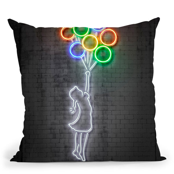 Balloons Throw Pillow By Octavian Mielu