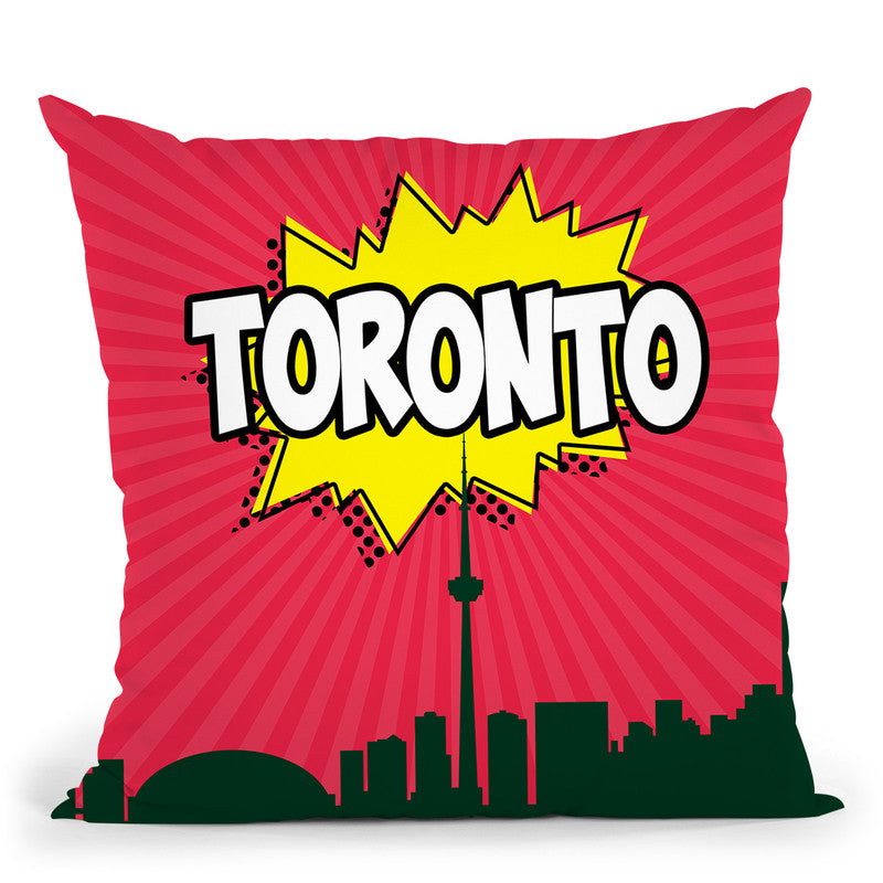 Toronto Throw Pillow By Octavian Mielu All About Vibe