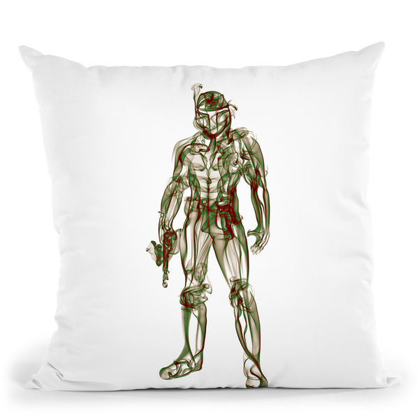 Boba Fett Throw Pillow By Octavian Mielu